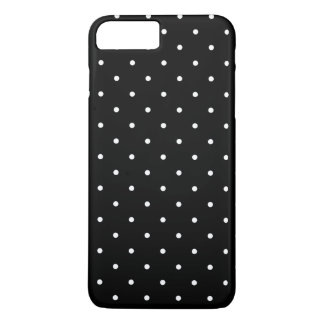 Black and White Small Polka Dots Pattern Girly iPhone 7 Plus Case