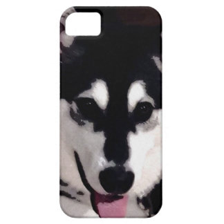 Black and white smiling Alaskan Malamute Case For The iPhone 5