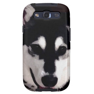 Black and white smiling Alaskan Malamute Galaxy SIII Covers