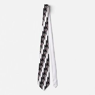 Black and white smiling Alaskan Malamute Tie