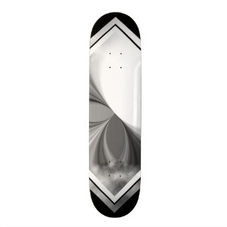 Black and White Smoke Pattern Customizable Deck 1 Skateboard