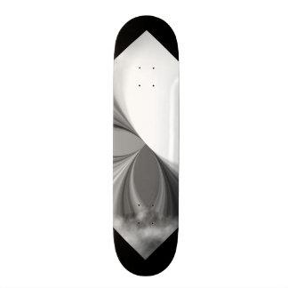 Black and White Smoke Pattern Customizable Deck 3 Skateboard