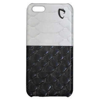 Black and white snake skin iphone cover iPhone 5C cases