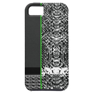 black and white snakeskin pattern iPhone 5 case