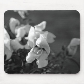 Black and White Snapdragon Mouse Pad