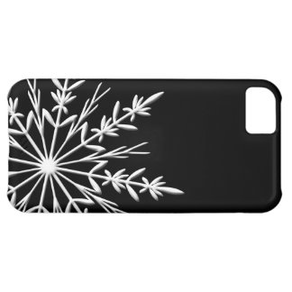 Black and White Snowflake Cover For iPhone 5C
