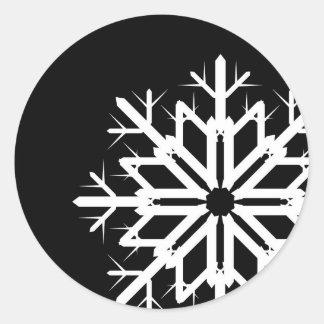 Black and White Snowflake Sticker