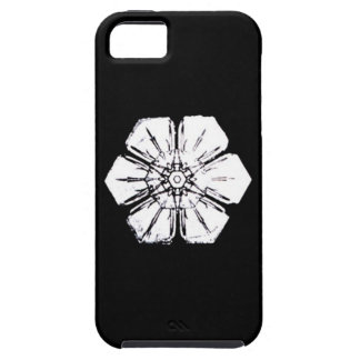 Black and White Snowflake that Resembles a Flower iPhone 5 Cover