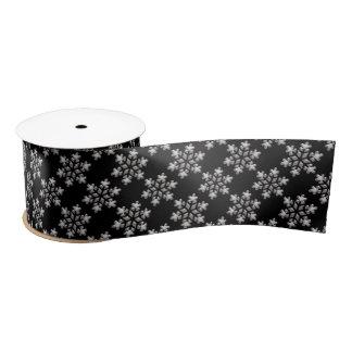 Black And White Snowflakes Christmas Holiday Satin Ribbon