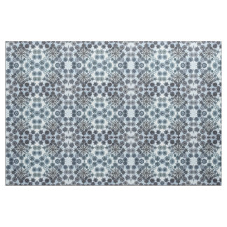 Black and White Snowflakes Fabric