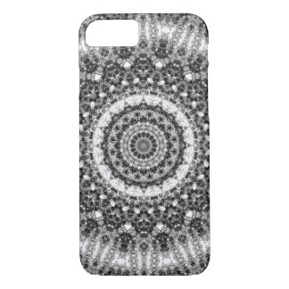 "Black and White ""Snowy Creek"" Mandala Kaleidoscope iPhone 8/7 Case"
