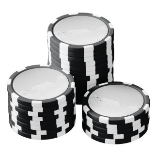 Black and White Snowy Mountains Poker Chip Set