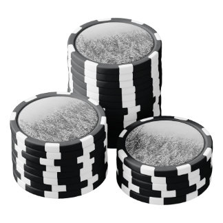 Black and White Snowy trees Poker Chip Set