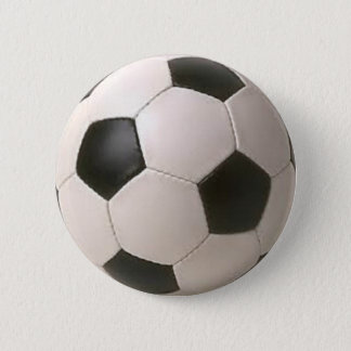 Black and White Soccer Ball 2 Inch Round Button