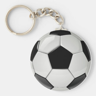 Black and White Soccer Ball Keychain (Keyring)