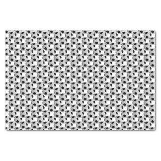 Black and White Soccer Ball Tissue Paper