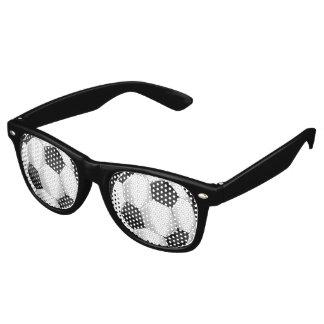 Black and White Soccer Balls Retro Sunglasses