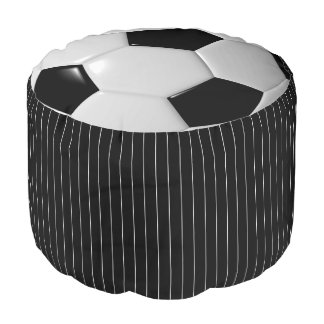 Black and White Soccer Sport Pattern | DIY Color Pouf