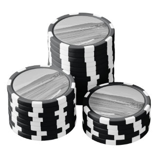 Black and White South Carlsbad beach Poker Chips