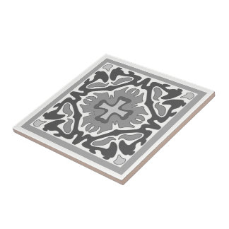 Black and White Spanish Tile