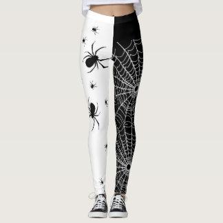 Black and White Spider Leggings