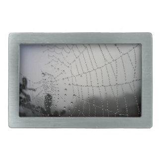 Black and White Spider Web Belt Buckle