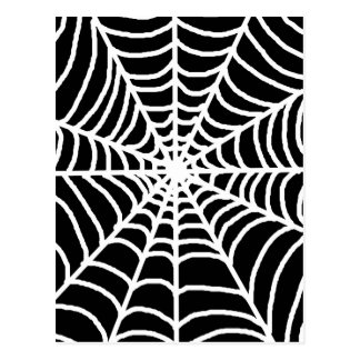 Black and white spider web postcard