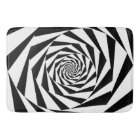 Black and White Spiral Bath Mat