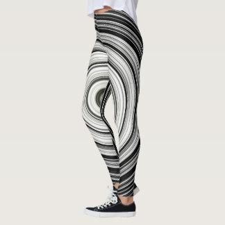 Black and white spiral leggings