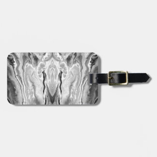 black and white splash luggage tag