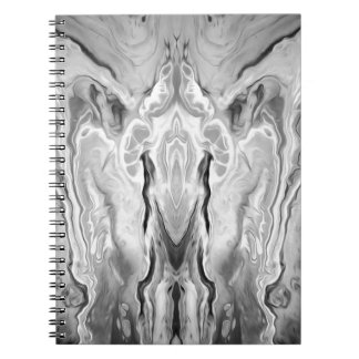 black and white splash notebook
