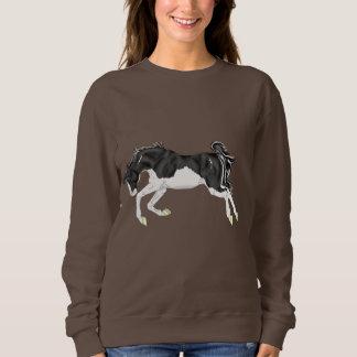 Black and White Splash Overo Horse Sweatshirt