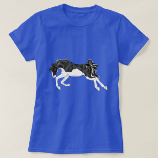 Black and White Splash Overo Horse T-Shirt