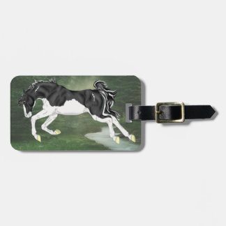 Black and White Splash Overo Paint Horse Luggage Tag