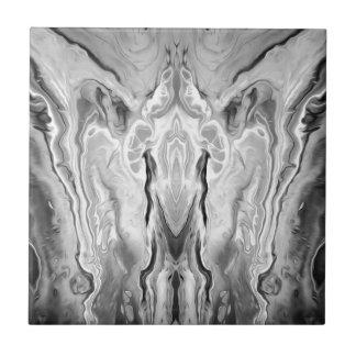 black and white splash tile