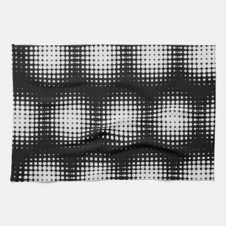 Black And White Spot Pattern Kitchen Towel