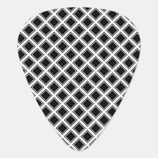 Black and white square pattern guitar pick