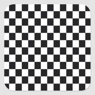Black and White Square Square Sticker
