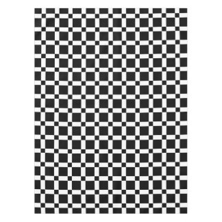 Black and White Square Tile Tablecloth