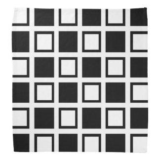Black and White Squares Bandana