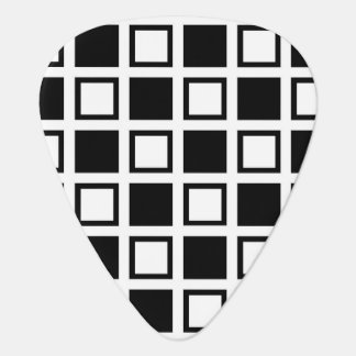 Black and White Squares Guitar Pick