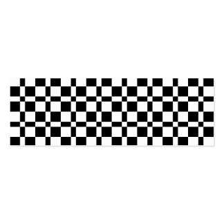 Black and White Squares Pattern Pack Of Skinny Business Cards