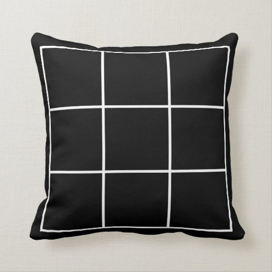 Black and white squares pillow