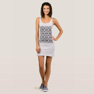 Black and White Squares T Shirt Dress
