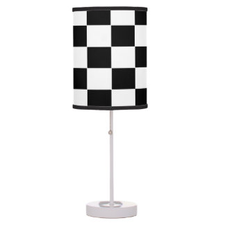 Black and White Squares Table Lamps