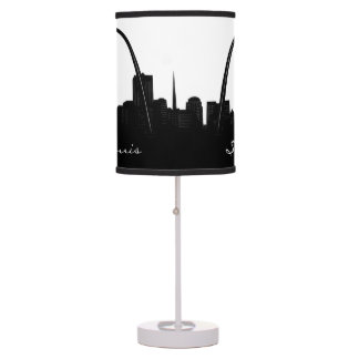 Black and White St. Louis, Missouri Skyline Table Lamp