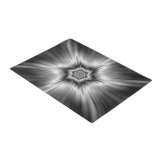 Black and White Star Burst Doormat