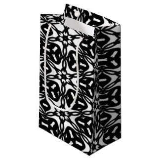 Black and White Star Flakes 9867 Small Gift Bag