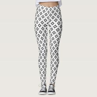 Black and White Star Pattern Leggings