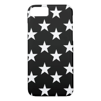 Black and White Star Print Phone Case